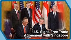 Ustr singapore free trade agreement president george w bush and singapore prime minister chok tong goh sign a free trade platinumwayz