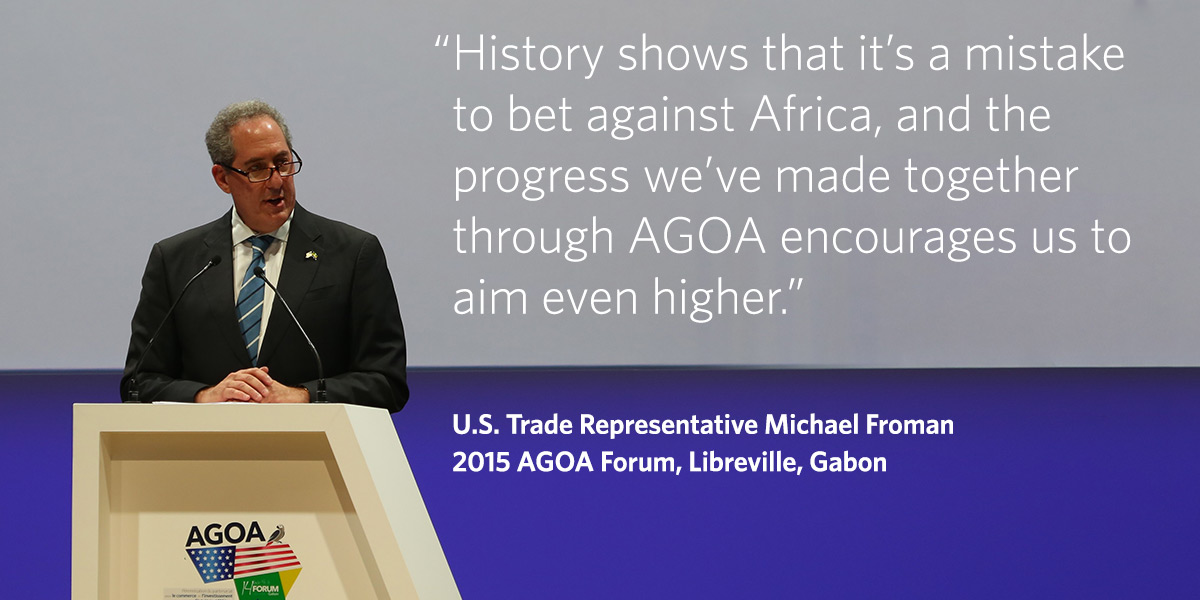 Froman at AGOA Forum 2015