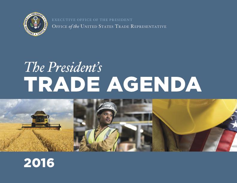Annual Agenda | 2016 Trade Policy Agenda And 2015 Annual Report United States