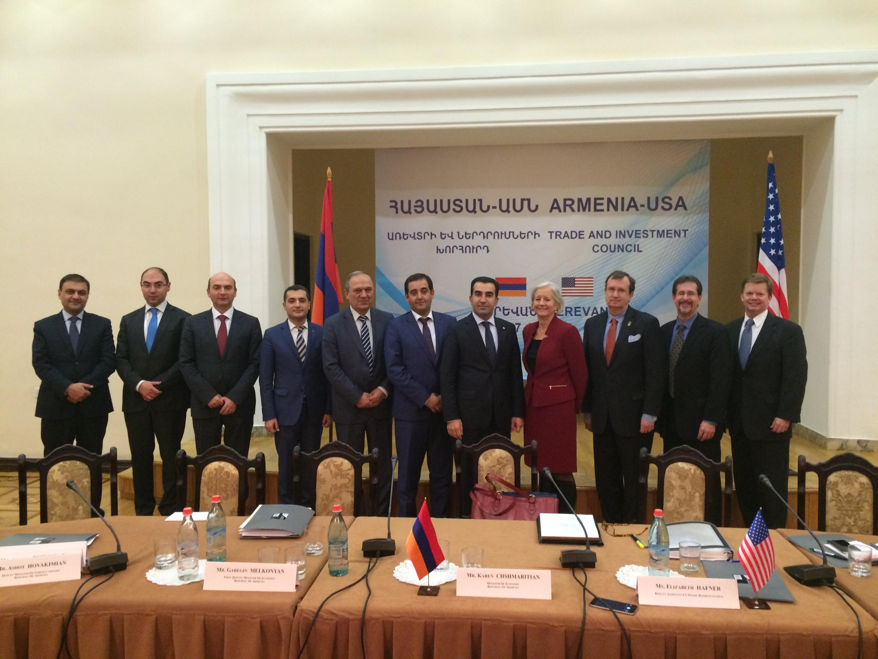 United States And Armenia Meet For The Us Armenia Trade And